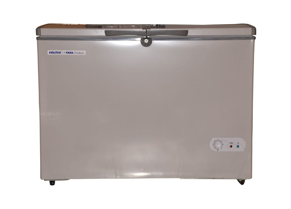 320 Liter Voltas Double Door Deep Freezer Grey