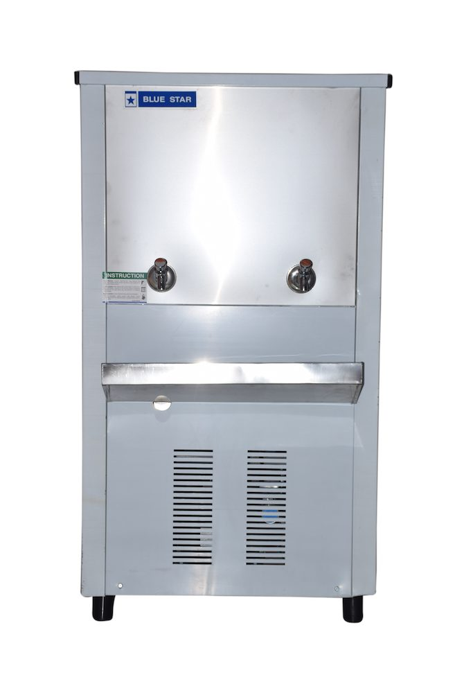 Model- SDLX6080B Storage Capacity- 80 liters Cooling Capacity- 60 liters Food Grade SS Tank and Body No of Taps- Two Dimensions (W*D*H) - (665*480*1210) mm Weight- 47 kg No of glasses per hour with comfortable drinking water- 300 Refrigerant- R22 Type of Compressor- RECIP Faster Cooling Silent Operations Nationwide Blue Star Network for prompt service Eco Friendly Refrigerant Power Saving PUF Insulation Externally mounted thermostat to set water temperature